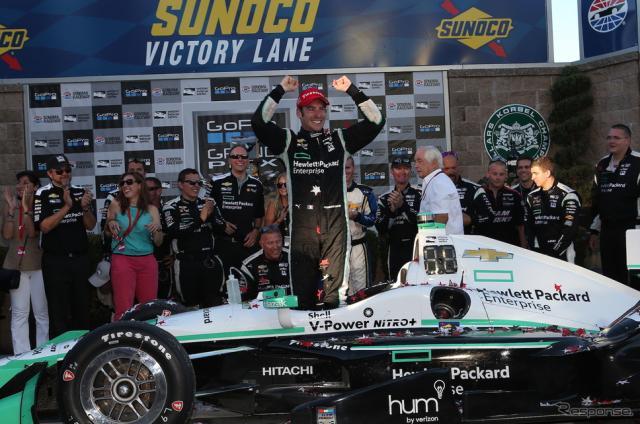 2016年のインディカー・シリーズチャンピオンに輝いたシモン・パジェノー。写真:INDYCAR