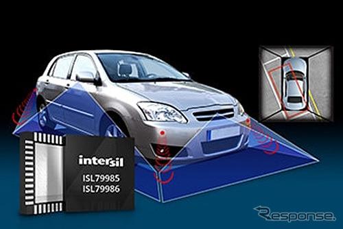 車載アラウンドビューシステム向け4チャネルアナログビデオデコーダ