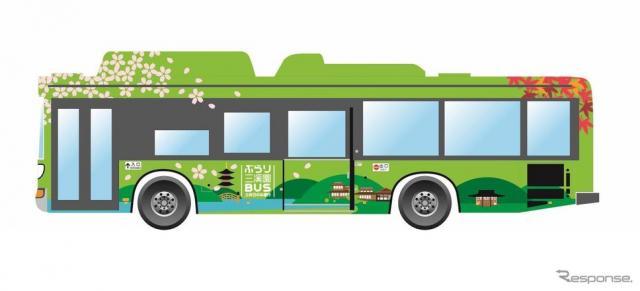 観光路線「ぶらり三溪園BUS」を運行するバスのイメージ