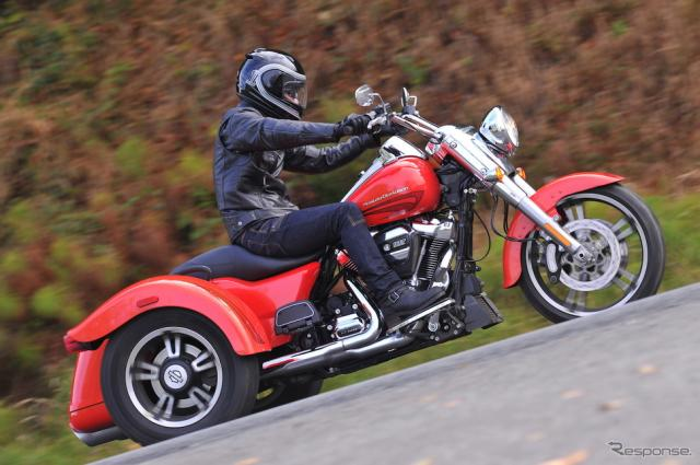 ストリップ仕様としたハーレーの新型トライク『FREE WHEELER(フリーウィーラー)』《画像 HARLEY-DAVIDSON JAPAN》