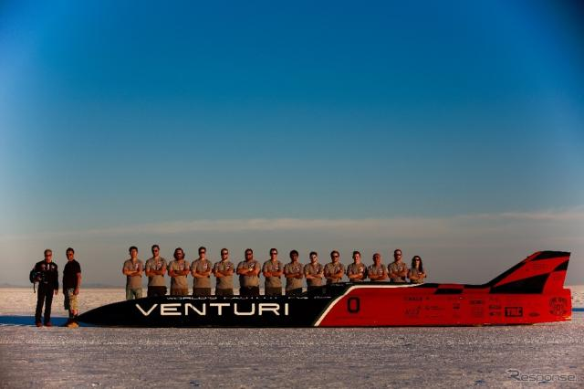 549km/hの最高速を計測しEVの世界新記録を打ち立てたベンチュリ
