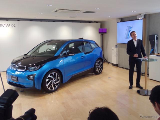 BMW、i3 改良新型を発表 〈撮影 高木啓〉
