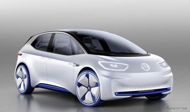 【パリモーターショー16】VWの新型EVコンセプト、「I.D.」…最大600km走行可
