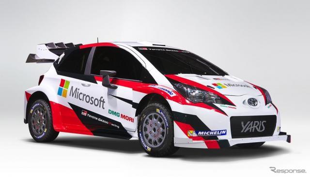 トヨタ ヤリス WRC テストカー(マイクロソフトのロゴ入り)