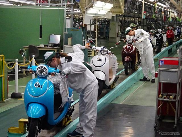 ホンダ 熊本製作所 ジョルノ生産ライン(参考画像)《撮影 池原照雄》