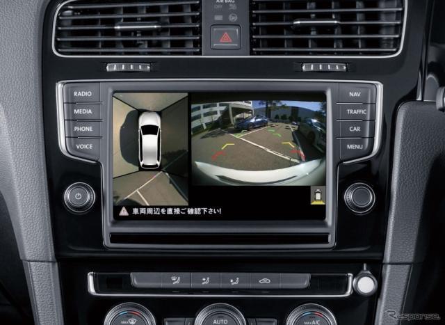 VW ゴルフ向け駐車支援カメラシステム サラウンドアイ