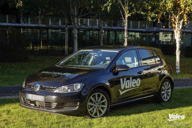 ヴァレオの自動運転車両Cruise4U。VWゴルフがベース
