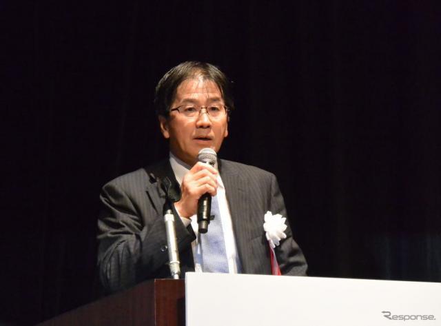 自動走行システムのプログラムダイレクターを務めるトヨタ自動車 葛巻清吾 CSTO補佐《撮影 小松哲也》