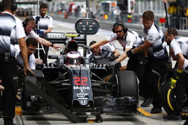 今季のF1を戦っているマクラーレンMP4-31・ホンダ(#22 J.バトン)。写真:Honda