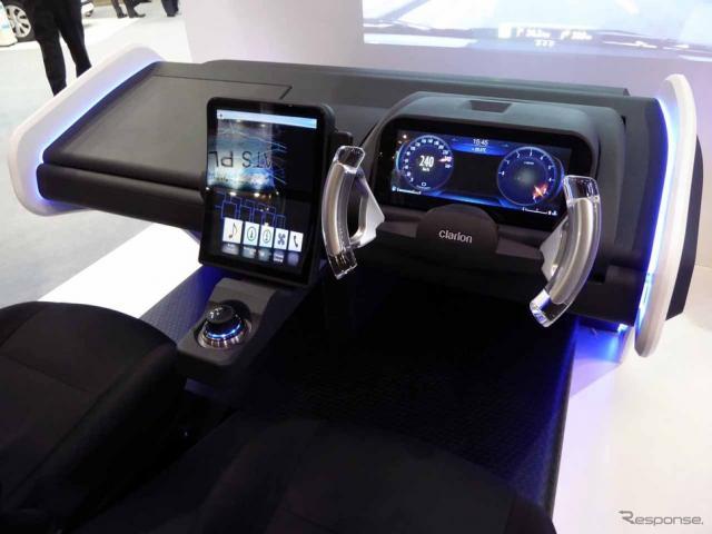 先進の統合型HMIが体感できるキャビン型モックアップによる『Smart Cockpit』