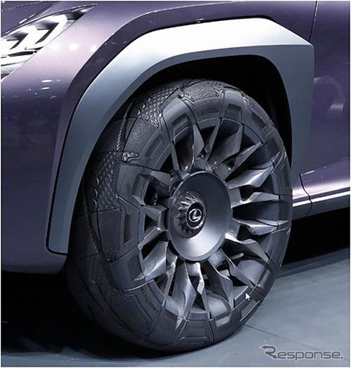 グッドイヤーがレクサス UX コンセプトに提供した専用コンセプトタイヤ