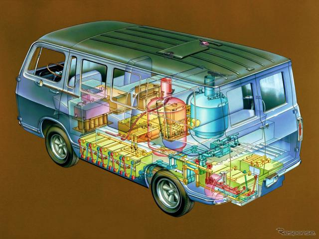GMが1966年に開発した世界初の水素燃料電池車、Electrovan