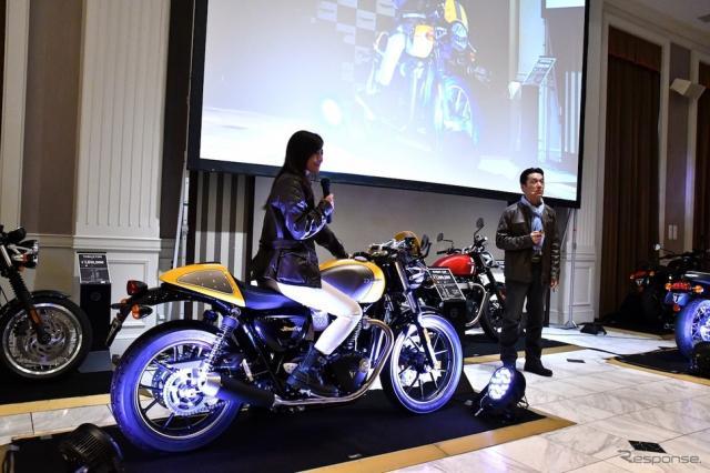 トライアンフモーターサイクルズジャパンは10月13日、メディアローンチを開催し、ニューモデルを本邦初公開した。撮影 青木タカオ