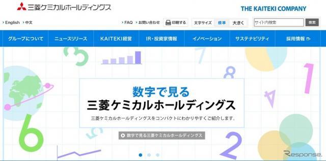 三菱ケミカルホールディングスのホームページ