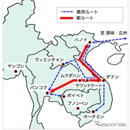 タイ〜ベトナム間のクロスボーダートラック混載輸送サービス