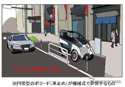 道路を使った超小型モビリティのカーシェアリングは歩行者のため