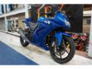 カワサキ Ninja 250R ブルー 社外ステップ フェンダーレスの画像