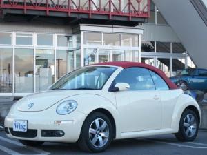 フォルクスワーゲン VW ニュービートルカブリオレ ベージュ革シートヒーター HDDナビ 社外ソフトトップ 禁煙