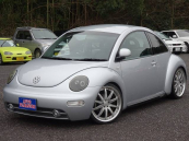 フォルクスワーゲン VW ニュービートル ターボ 車高調 19インチアルミ 革シート