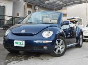 フォルクスワーゲン VW ニュービートルカブリオレ LZ 禁煙車 本革シート ベージュ幌 社外アンプ ETC