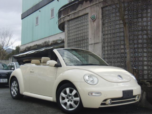 フォルクスワーゲン VW ニュービートルカブリオレ プラス ベージュ本革シート 電動オープン バックソナー