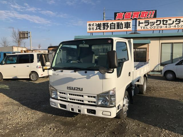 いすゞ エルフトラック 強化フルフラットローダンプ