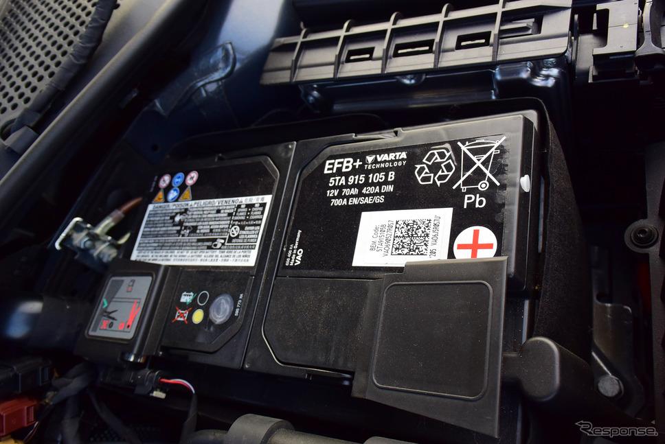 容量70アンペア時の鉛バッテリーはドイツ製。《写真撮影 井元康一郎》