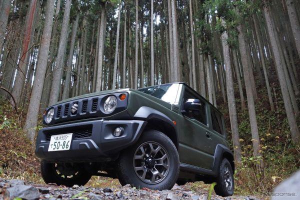 スズキ ジムニーシエラ 1.5 4WD JC。北茨城の山林にて記念撮影。《写真撮影 井元康一郎》