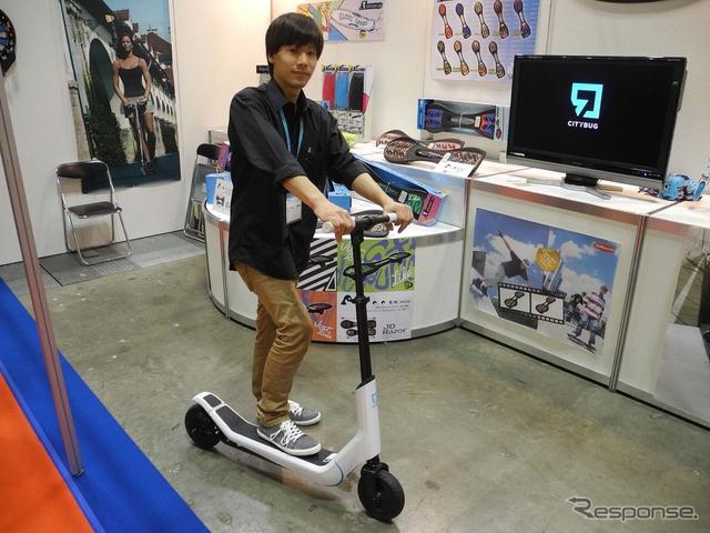 ジェイディジャパンが5月から販売予定の電動キックボード「シティバグ」《撮影 山田清志》