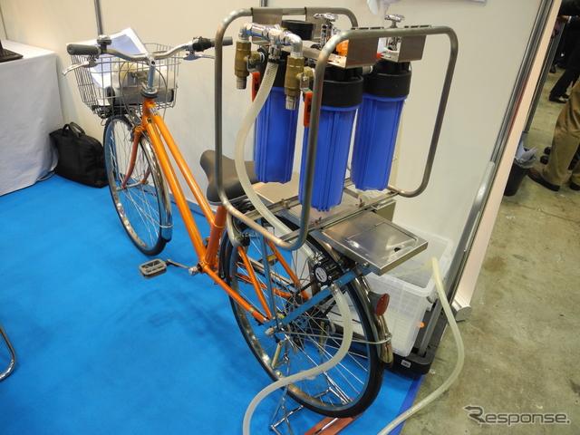 ベーシックの浄水自転車「モバイルオアシス」《撮影 山田清志》