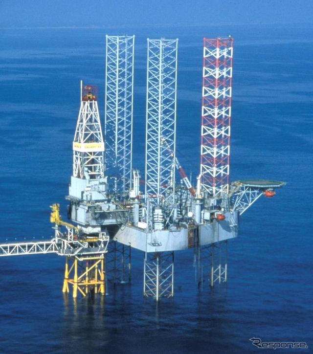 JX開発が試掘で使用した海洋削装置