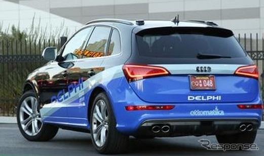 デルファイのロボットカー。アウディQ5ベース