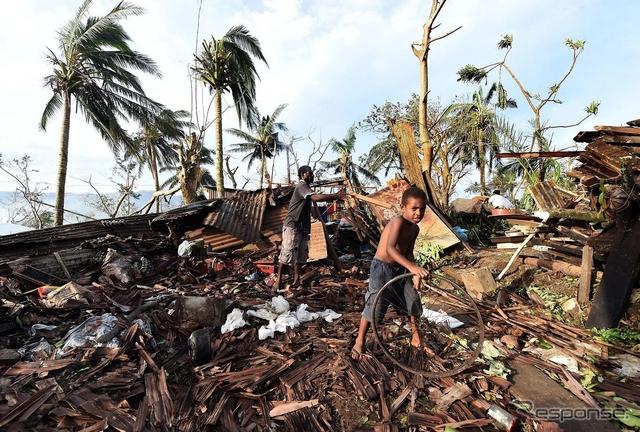 サイクロン・パムにより被害を受けた地域《写真 Getty Images》