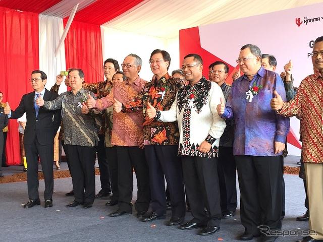 三菱自動車 インドネシア新工場 起工式《撮影 三浦真》