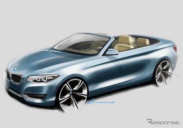 BMW 2シリーズ カブリオレのデザインスケッチ《BMW提供》