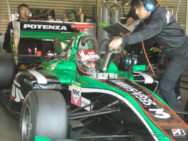 KONDO RACINGの#3 ジェームス・ロシターがトップタイムをマーク。