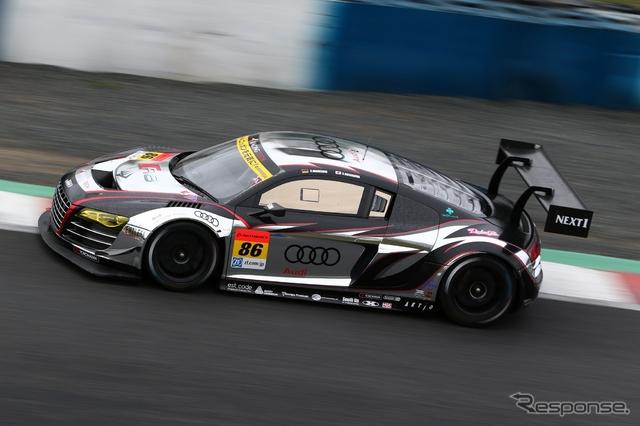 開幕戦、GT300クラス4位となった#86 Racing Tech Audi R8。撮影:益田和久