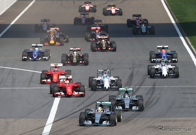 F1中国GPスタートシーン《画像 Getty Images》