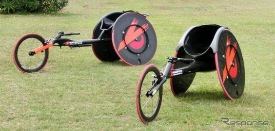 【バリアフリー15】八千代工業、陸上競技用車いすレーサーを出展