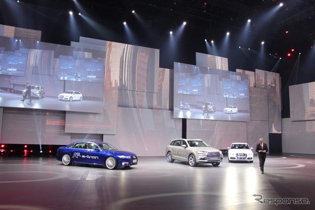 上海モーターショー15に先駆けて行われた、VWグループのプレビューイベント《撮影 吉田瑶子》