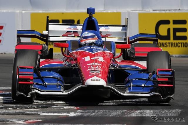 #14 佐藤琢磨は決勝18位。写真:Honda(予選日)