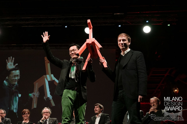 Milano Design Award Competitionで「Best Entertaining賞」受賞の様子
