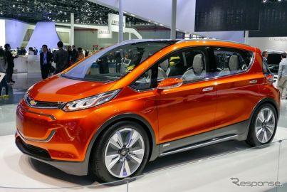 【上海モーターショー15】シボレー の小型EVコンセプト、ボルト…中国初公開