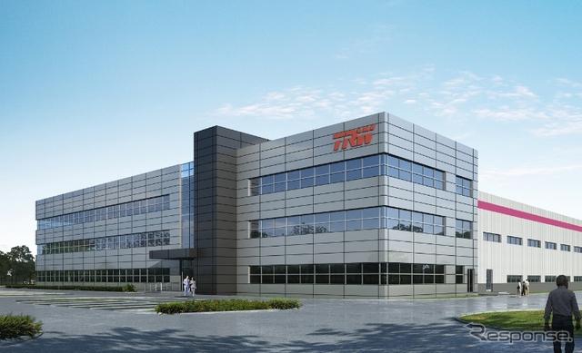 TRWの中国新工場の完成予想図