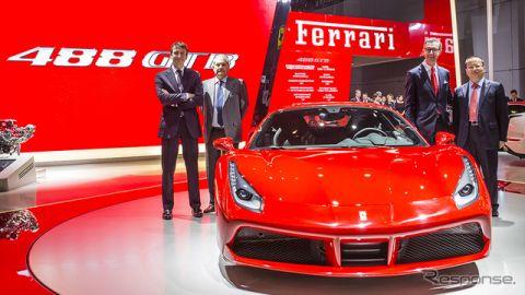 【上海モーターショー15】フェラーリ 488 GTB 、アジア初公開…スポーツカーの新基準を標榜