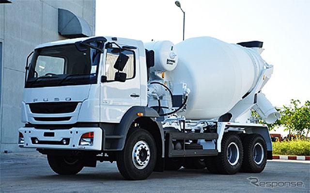 タイに投入した大型トラック「FJ」2528C ミキサー車