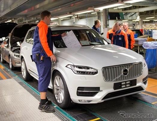 ボルボカーズのスウェーデン・トースランダ工場で生産される新型XC90