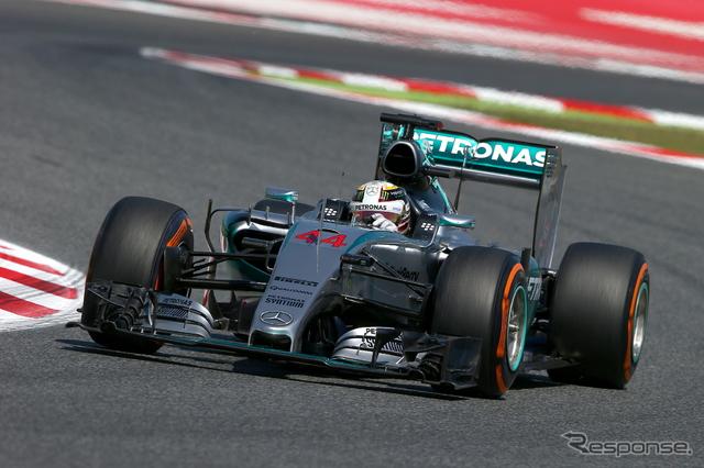 スペインGPで初日トップのルイス・ハミルトン《画像 Getty Images》