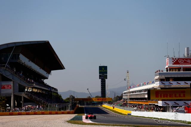 スペインGPフリー走行の様子《画像 Getty Images》
