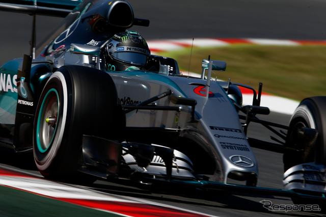 スペインGPポールポジションのニコ・ロズベルグ《画像 Getty Images》